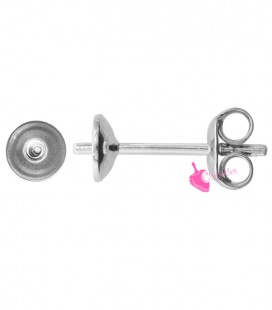 Perni Orecchini per Perle Mezzo Foro diametro 5 mm Argento 925 Rodiato (1 paio)