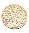 Ciondolo Filigrana Ottone 21 mm colore Oro Rosa