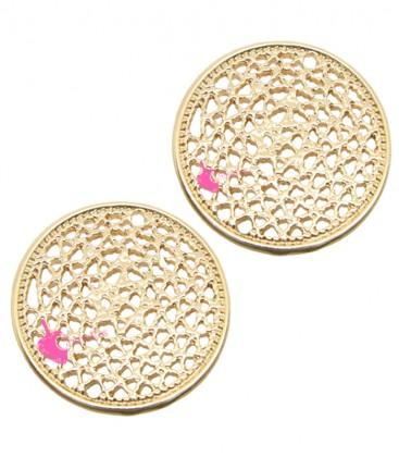 Ciondolo Filigrana Ottone 16 mm colore Oro Rosa