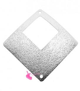 Ciondolo Rombo Forato Glitter 35 mm Vari Colori (2 pezzi)