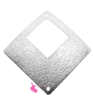 Ciondolo Rombo Forato Glitter 35 mm colore Acciaio