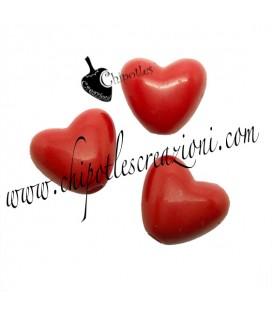 Perla Cuore Rosso 11x10 mm Acrilico (20 pezzi)