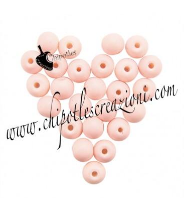 Perle Vetro 6 mm Rosa Pesca
