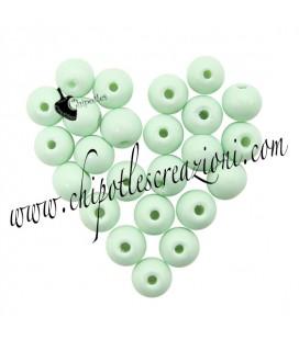 Perle Vetro 6 mm Verde Menta
