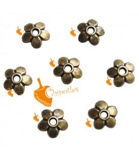 Coppette Copriperla Fiorellino 6 mm colore Bronzo Antico