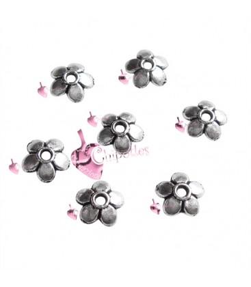 Coppette Copriperla Fiorellino 6 mm colore Argento Antico