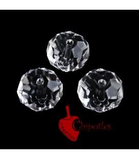 Perle Rondelle Mezzo Cristallo 12 mm Crystal