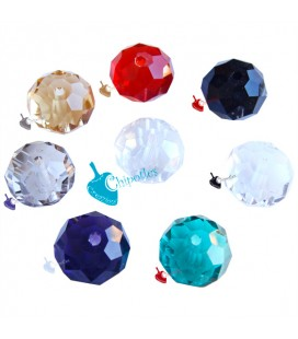 Perle Rondelle Miste Mezzo Cristallo 12 mm