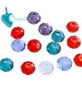 Perle Rondelle Miste Mezzo Cristallo 4-6 mm