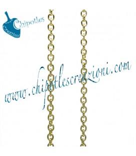 Catena Ovale 4x3,2 mm Alluminio colore Oro