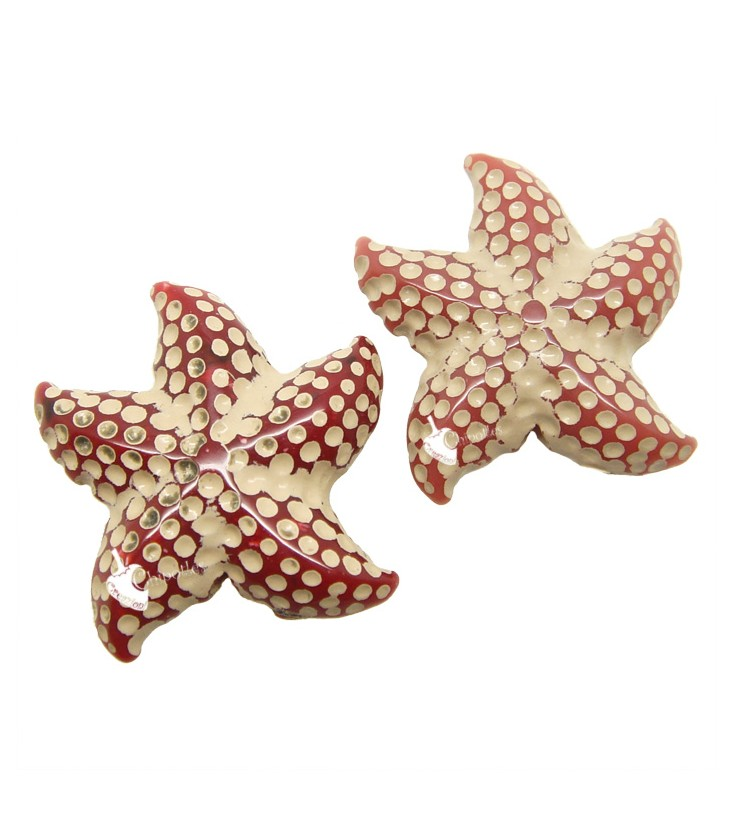 61b95ad7e91235 Perle Stella Marina Resina 24x23 mm colore Sabbia e Rosso