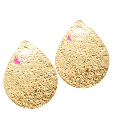 Ciondolo Goccia Glitter 12x9 mm colore Oro Rosa