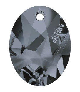 Ciondolo Kaputt Oval Swarovski® 6910 26 mm Crystal Silver Night