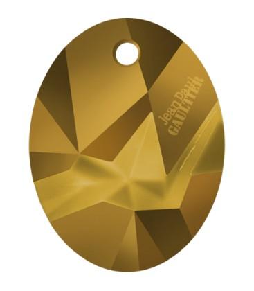 Ciondolo Kaputt Oval Swarovski® 6910 26 mm Crystal Dorado