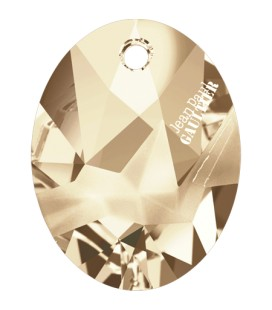 Ciondolo Kaputt Oval Swarovski® 6910 26 mm Crystal Golden Shadow