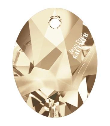 Ciondolo Kaputt Oval Swarovski® 6910 26 mm Crystal Golden Shadow