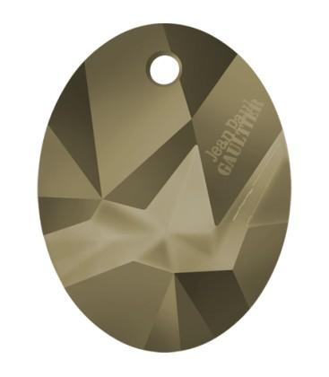 Ciondolo Kaputt Oval Swarovski® 6910 26 mm Crystal Metallic Light Gold