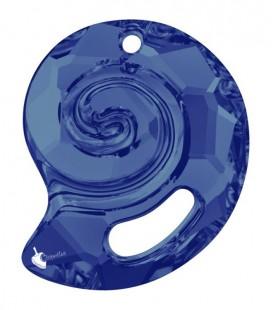Ciondolo Sea Snail Swarovski® 6931 28 mm Crystal Bermuda Blue
