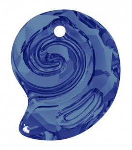 Ciondolo Sea Snail Swarovski® 6731 14 mm Crystal Bermuda Blue