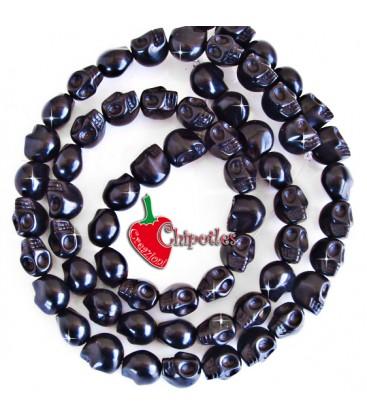 Perla Teschio 12x9,5 mm colore Nero