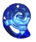 Ciondolo Sea Snail Swarovski® 6731 28 mm Crystal Bermuda Blue