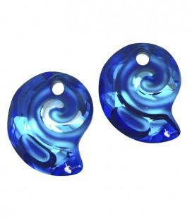 Ciondolo Sea Snail PF Swarovski® 6731 14 mm Crystal Bermuda Blue