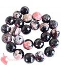 Perle Agata 16 mm colore Nero e Rosa (1 Filo)