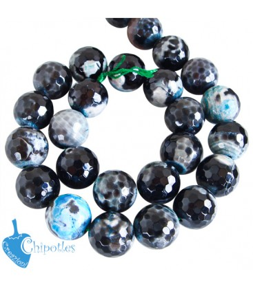 Perla Agata 16 mm colore Nero con Sfumature