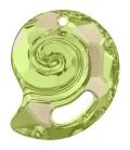 Ciondolo Sea Snail PF Swarovski® 6731 28 mm Crystal Luminous Green