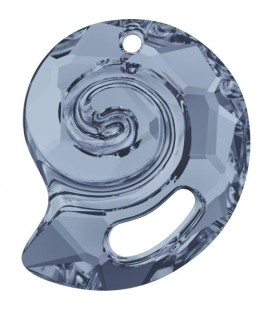 Ciondolo Sea Snail PF Swarovski® 6731 28 mm Crystal Blue Shade