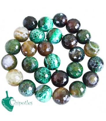 Perle Agata 16 mm colore Verde (1 Filo)