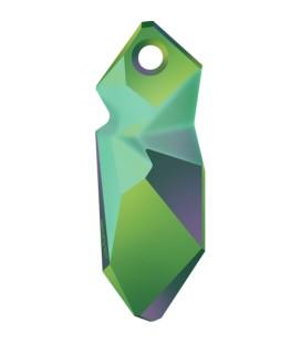 Ciondolo Kaputt Swarovski® 6912 40 mm Crystal Scarabaeus Green
