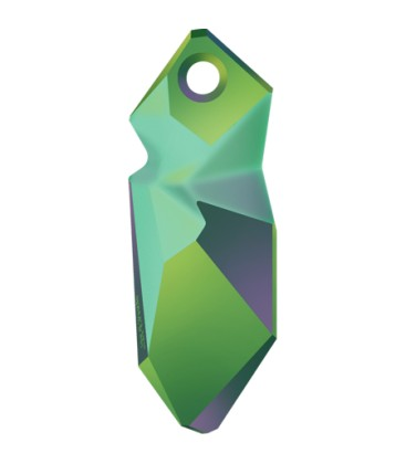 Ciondolo Kaputt Swarovski® 6912 28 mm Crystal Scarabaeus Green