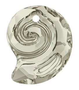 Ciondolo Sea Snail PF Swarovski® 6731 14 mm Crystal Silver Shade
