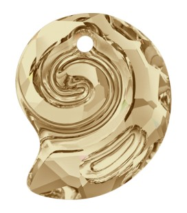 Ciondolo Sea Snail PF Swarovski® 6731 14 mm Crystal Golden Shadow