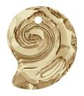 Ciondolo Sea Snail PF Swarovski® 6731 14 mm Crystal Golden Shadow