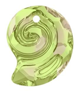Ciondolo Sea Snail PF Swarovski® 6731 14 mm Crystal Luminous Green