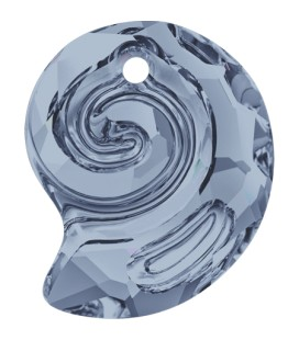 Ciondolo Sea Snail PF Swarovski® 6731 14 mm Crystal Blue Shade