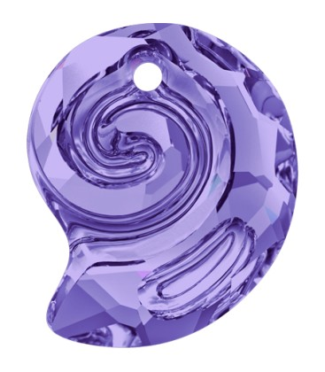 Ciondolo Sea Snail PF Swarovski® 6731 14 mm Tanzanite
