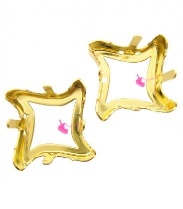Castone con 4 Fori per Swarovski® 4485 17 mm Fondo Aperto colore Oro