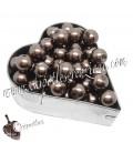 Perle 8 mm Vetro Cerato colore Marrone (100 pezzi)