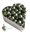 Perle 8 mm Vetro Cerato colore Verde Scuro (100 pezzi)