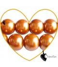 Perle 12 mm Vetro Cerato colore Oro Ramato
