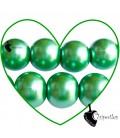 Perle 12 mm Vetro Cerato colore Verde