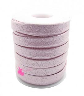 Cordoncino Piatto Glitter Ecopelle 10 mm colore Turchese