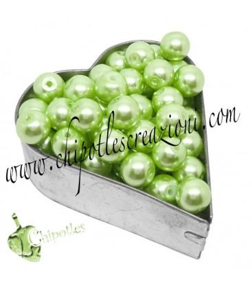 Perle 8 mm Vetro Cerato colore Verde Chiaro (100 pezzi)