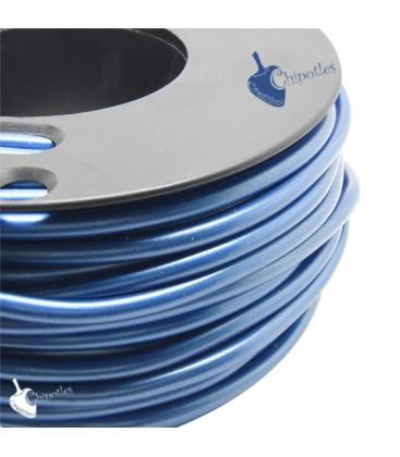 Cordoncino PVC 4 mm Forato Colore Blu Metallizzato (1 metro)
