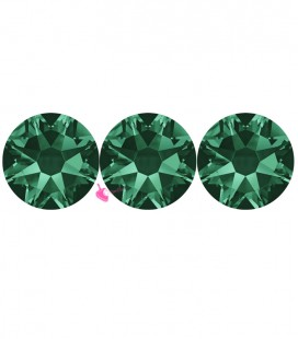 Flat Backs No Hotfix Swarovski® Xilion Rose 2058 SS16 3,90 mm Emerald (36 pezzi)