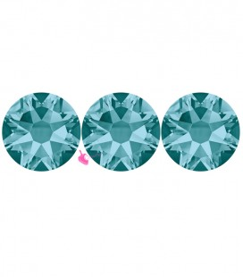 Flat Backs No Hotfix Swarovski® Xilion Rose 2058 SS16 3,90 mm Blue Zircon (36 pezzi)