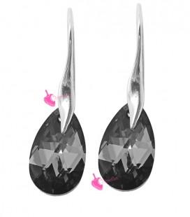 Orecchini Goccia Swarovski Crystal Silver Night (Esempio Bijoux)
